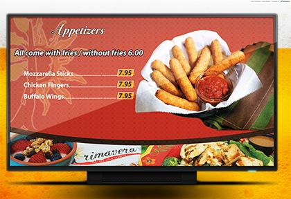 Digital Menus  by beconnect4us.com